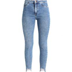 New Look DISCO FRAY HEM Jeans Skinny Fit mid blue. Czarne jeansy damskie relaxed fit marki New Look, z materiału, na obcasie. Za 139,00 zł.