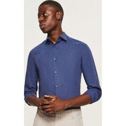 Koszula slim fit - Granatowy. Niebieskie koszule męskie slim Reserved, l. Za 69,99 zł.