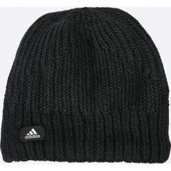 Adidas Performance - Czapka. Czarne czapki zimowe damskie adidas Performance, na zimę, z dzianiny. W wyprzedaży za 49,90 zł.