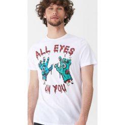 T-shirt z halloweenowym motywem - Biały. Białe t-shirty męskie House, l. Za 39,99 zł.