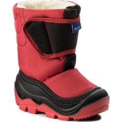 Buty zimowe chłopięce: Śniegowce MUFLON – 22-388CH Czarny Czerwony