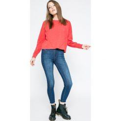 Only - Bluza Jinnou. Szare bluzy damskie marki ONLY, s, z bawełny, casualowe, z okrągłym kołnierzem. W wyprzedaży za 49,90 zł.