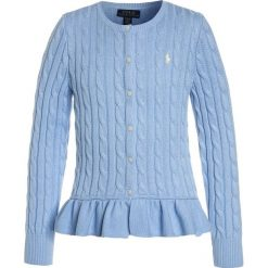 Swetry chłopięce: Polo Ralph Lauren PEPLUM  Kardigan elite blue
