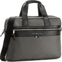 Torba na laptopa TOMMY HILFIGER - Elevated Computer Bag AM0AM02962  096. Szare plecaki męskie marki TOMMY HILFIGER. Za 599,00 zł.