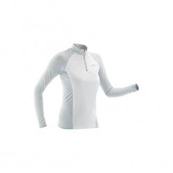 Koszulka narciarska XC S UW550 damska. Czerwone t-shirty damskie marki DOMYOS, z elastanu. Za 179,99 zł.