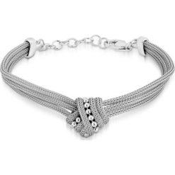 PROMOCJA Srebrna Bransoletka - srebro 925. Szare bransoletki damskie na nogę marki W.KRUK, srebrne. W wyprzedaży za 249,00 zł.