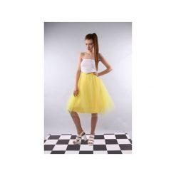 Spódnica tiulowa Pavlova cytrynowa. Żółte spódniczki trapezowe Kozacki Mops, m, z tiulu. Za 229,00 zł.