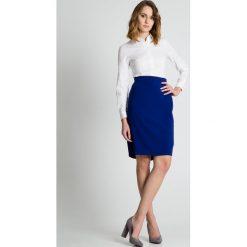 Spódniczki: Niebieska ołówkowa spódnica BIALCON
