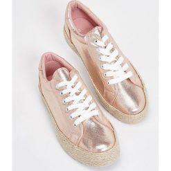 Sneakersy damskie: Sneakersy na platformie – Różowy