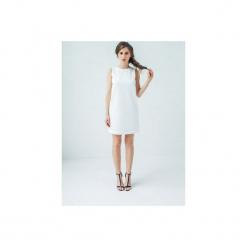 SUKIENKA TRÓJWYMIAROWA. Białe sukienki dzianinowe marki Klaudyna cerklewicz fashion, na co dzień, na lato, xs, casualowe. Za 349,00 zł.