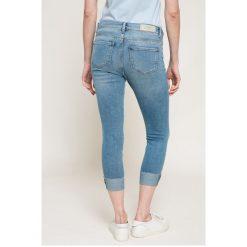 Only - Jeansy. Niebieskie jeansy damskie rurki marki ONLY, z bawełny. W wyprzedaży za 79,90 zł.