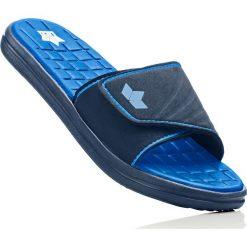 Klapki kąpielowe Lico bonprix ciemnoniebiesko-błękit królewski. Niebieskie kąpielówki męskie bonprix, w paski. Za 54,99 zł.