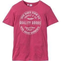 T-shirt Regular Fit bonprix średni różowy. Fioletowe t-shirty męskie z nadrukiem bonprix, m. Za 29,99 zł.