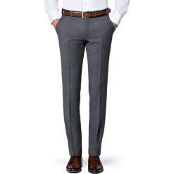 Spodnie Szare Flanelowe Diego. Szare rurki męskie LANCERTO, na jesień, z wełny. Za 399,90 zł.