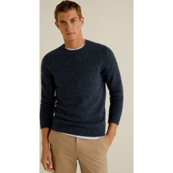 Mango Man - Sweter Bulky. Brązowe swetry klasyczne męskie Mango Man, l, z dzianiny, z okrągłym kołnierzem. Za 199,90 zł.