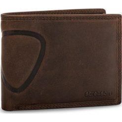 Duży Portfel Męski STRELLSON - Baker Street 4010000048 Dark Brown 702. Brązowe portfele męskie marki Strellson, z nubiku. Za 159,00 zł.