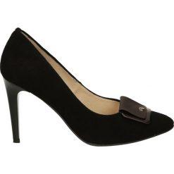 Czółenka - ZS7252221 NER. Czarne buty ślubne damskie Venezia, ze skóry. Za 179,00 zł.