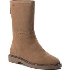 Kozaki VAGABOND - Christy 4459-040-08 Warm Sand. Brązowe buty zimowe damskie Vagabond, ze skóry, przed kolano, na wysokim obcasie, na obcasie. W wyprzedaży za 359,00 zł.