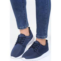 Granatowe Buty Sportowe Street Walk. Niebieskie buty sportowe damskie marki Born2be, z materiału. Za 59,99 zł.