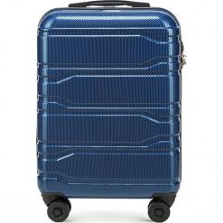 Walizka mała 56-3P-981-90. Niebieskie walizki Wittchen, z gumy, małe. Za 259,00 zł.