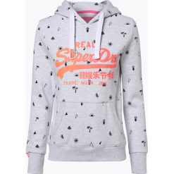 Superdry - Damska bluza nierozpinana, szary. Szare bluzy rozpinane damskie Superdry, m, z nadrukiem. Za 379,95 zł.