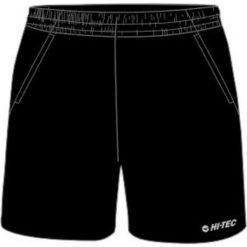 Hi-tec Szorty Sportowe Męskie Lemos Black/Victoria Blue r. XL. Czarne spodenki sportowe męskie Hi-tec, sportowe. Za 54,24 zł.