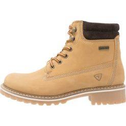 Tamaris Botki sznurowane corn. Brązowe buty zimowe damskie marki Tamaris, z materiału, na sznurówki. Za 399,00 zł.