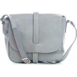 Torebki klasyczne damskie: Skórzana torebka w kolorze szarym – 24 x 9 x 20 cm