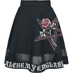 Alchemy England Rose Petagram Spódnica czarny. Czarne spódniczki z wysokim stanem Alchemy England, l, w ażurowe wzory, z koronki. Za 184,90 zł.