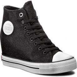 Sneakersy BIG STAR - W274674 Black. Czarne sneakersy damskie BIG STAR, z gumy. W wyprzedaży za 109,00 zł.