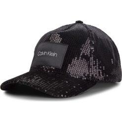 Czapka z daszkiem CALVIN KLEIN - Sequin Cap K60K604898 001. Czarne czapki z daszkiem damskie Calvin Klein, z materiału. Za 179,00 zł.