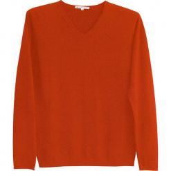 Sweter kaszmiorwy w kolorze jasnobrązowym. Brązowe swetry klasyczne męskie marki Ateliers de la Maille, m, z kaszmiru, z okrągłym kołnierzem. W wyprzedaży za 500,95 zł.