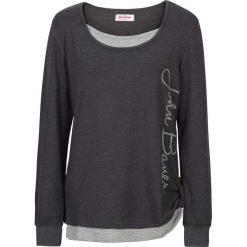 Bluzy rozpinane damskie: Bluza 2 w 1, długi rękaw bonprix szary melanż