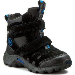 Buty zimowe chłopięce: Śniegowce MERRELL – Moab Polar Mid J95495 Black/Blue