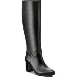 Kozaki KOTYL - 5515 Czarny Lico. Czarne kozaki damskie Kotyl, ze skóry, przed kolano, na wysokim obcasie, na obcasie. W wyprzedaży za 379,00 zł.