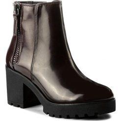 Botki ALDO - Koredia 51975596 40. Czerwone buty zimowe damskie ALDO, z materiału, na obcasie. W wyprzedaży za 229,00 zł.