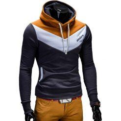 BLUZA MĘSKA Z KAPTUREM ARTURO - GRAFITOWA. Czarne bluzy męskie rozpinane marki Ombre Clothing, m, z bawełny, z kapturem. Za 79,00 zł.