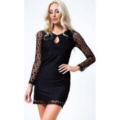 Sukienka elegancka z wzorzystym szyfonem czarna 2155. Czarne sukienki Fasardi, l, z szyfonu, eleganckie. Za 49,00 zł.