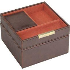Zegarki męskie: Pudełko na spinki i zegarki Stackers z pokrywką brązowo-pomarańczowe