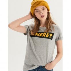 T-shirt z nadrukiem - Jasny szar. Szare t-shirty damskie Sinsay, l, z nadrukiem. Za 19,99 zł.