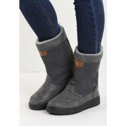 Szare Śniegowce Carry Power. Szare buty zimowe damskie marki Born2be, z materiału. Za 59,99 zł.