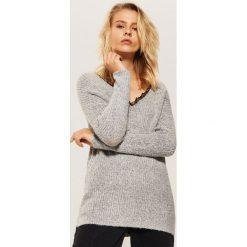 Sweter z koronką - Jasny szar. Szare swetry klasyczne damskie House, l, z koronki. Za 69,99 zł.