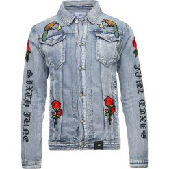 Kurtki męskie bomber: Sixth June WITH FLOWER PATCH Kurtka jeansowa blue