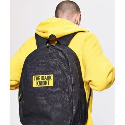 Plecaki męskie: Plecak z naszywką batman - Czarny