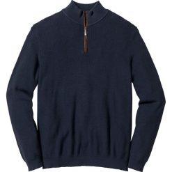 Swetry męskie: Sweter ze stójką Regular Fit bonprix ciemnoniebieski