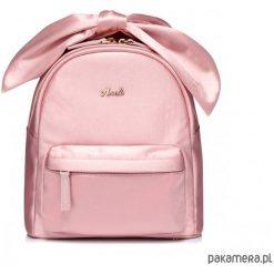 Plecak różowy z kokardą. Czerwone plecaki damskie Pakamera, z materiału, eleganckie. Za 169,00 zł.