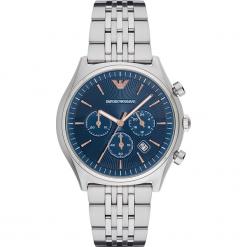Zegarek EMPORIO ARMANI - Zeta AR1974  Silver/Silver. Szare zegarki męskie marki Emporio Armani, l, z nadrukiem, z bawełny, z okrągłym kołnierzem. Za 1349,00 zł.