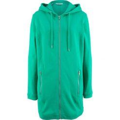 Długa bluza rozpinana bonprix szmaragdowy. Zielone bluzy rozpinane damskie bonprix, z długim rękawem, długie. Za 79,99 zł.