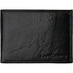 Portfel Czarny. Czarne portfele męskie marki LANCERTO, ze skóry. W wyprzedaży za 149,90 zł.