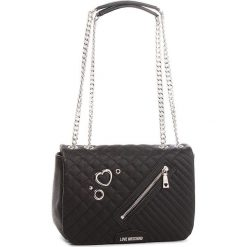 Torebka LOVE MOSCHINO - JC4077PP16LL0000  Nero. Czarne torebki klasyczne damskie marki Love Moschino, ze skóry ekologicznej. W wyprzedaży za 739,00 zł.